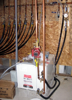 Using A Hydronic Radiant Floor Heating System With A Water